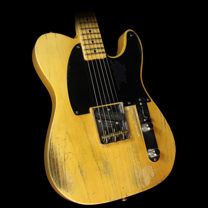 Fender Custom Shop Masterbuilt Dale Wilson '55 Blackguard Esquire Relic Electric Guitar Smoked Butterscotch Blonde R16006