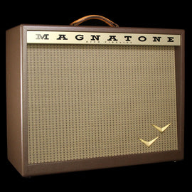 "Magnatone Traditional Collection 2x10"" Electric Guitar Amplifier Cabinet Brown"