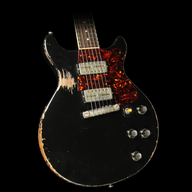 Rock N Roll Relics Thunders Electric Guitar Aged Black with Lollar Gold Foils 17566