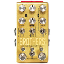 Chase Bliss Brothers Analog Gain Stage Overdrive Boost and Fuzz Effect Pedal