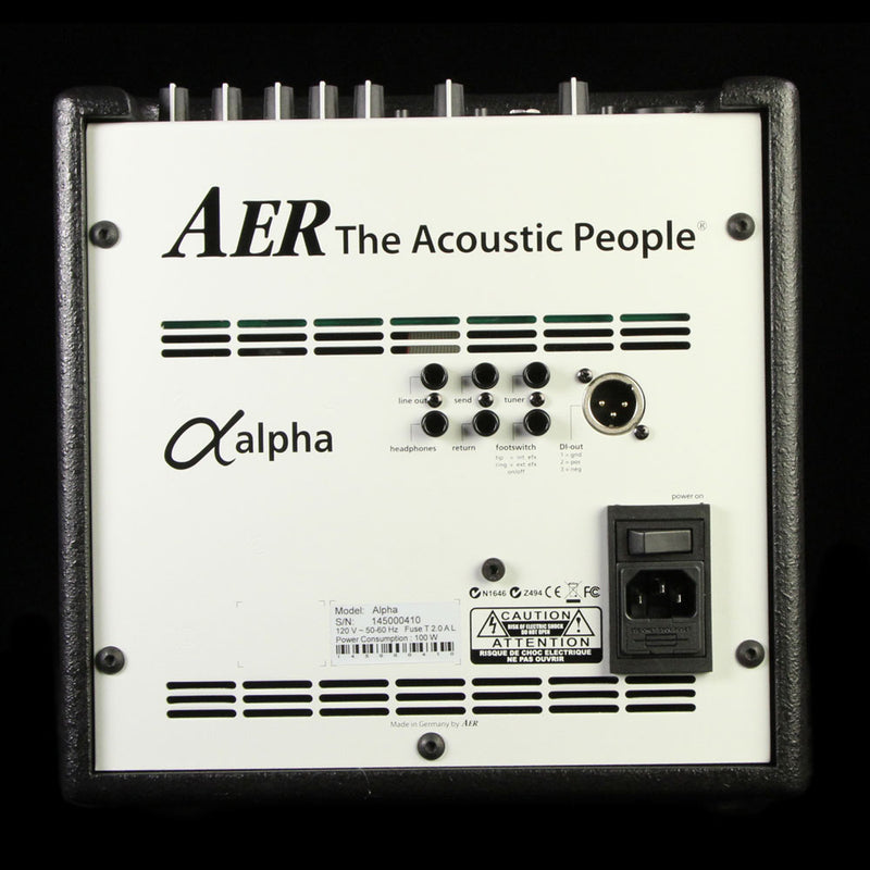 AER Alpha Instrument and XLR Input Guitar and Vocal Combo Amplifier ALPHA