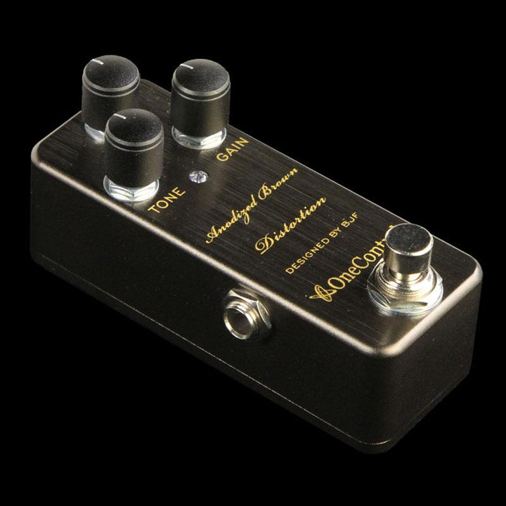 One Control BJF Series Anodized Brown Distortion Effect Pedal ANODIZED-BROWN