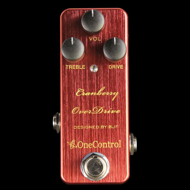 One Control Cranberry Overdrive Effect Pedal CRANBERRY