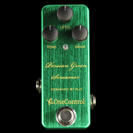 One Control BJF Series Persian Green Screamer Overdrive Effect Pedal