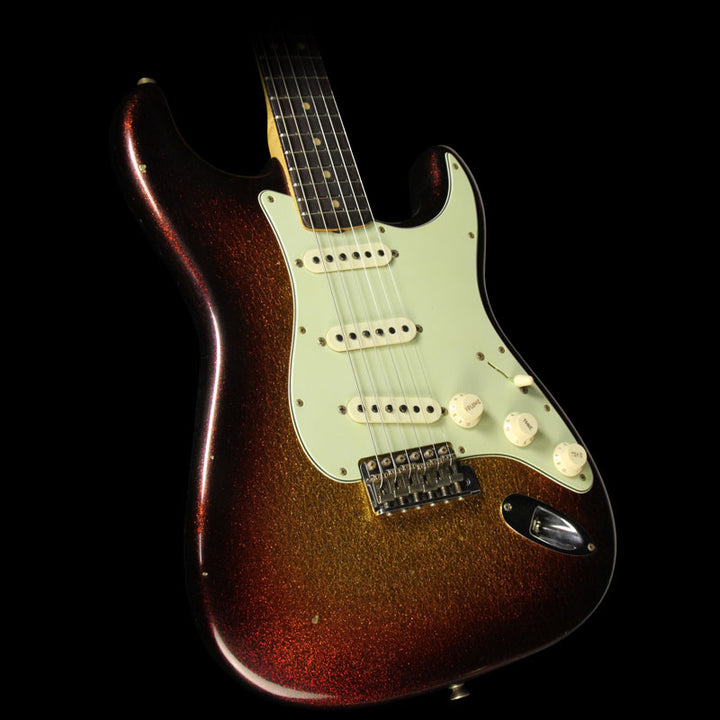 Fender Custom Shop 1963 Stratocaster Electric Guitar Sparkle 3-Tone Sunburst CZ530802