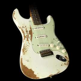 Fender Custom Shop '60s Stratocaster Heavy Relic Roasted Mahogany Electric Guitar Olympic White