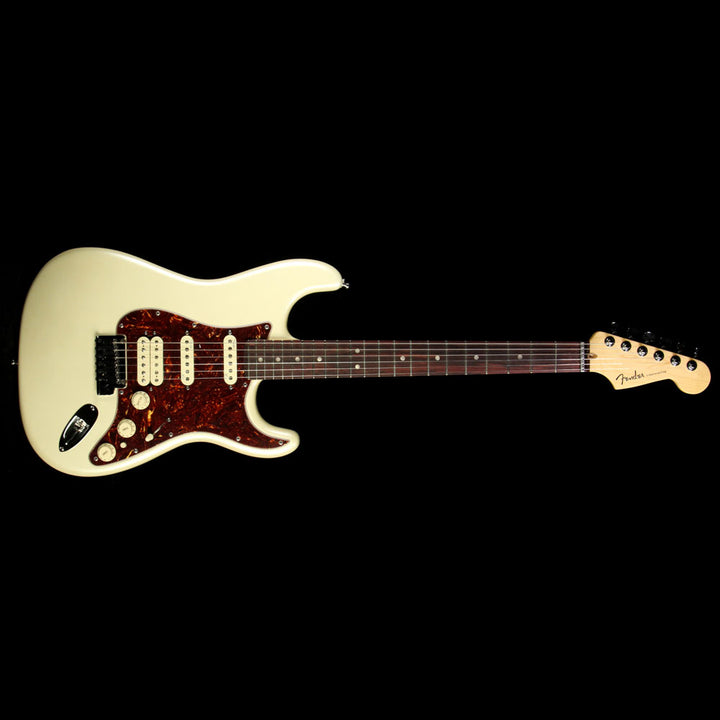 Used 2012 Fender American Deluxe Stratocaster HSS Electric Guitar Olympic Pearl US12204096