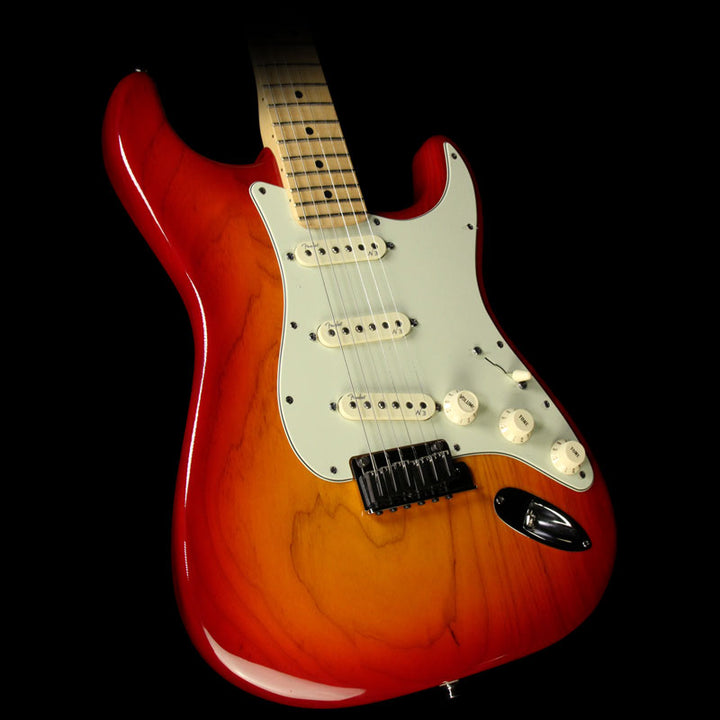 Used 2013 Fender American Deluxe Ash Stratocaster Strat Electric Guitar Aged Cherry Burst 0119302731