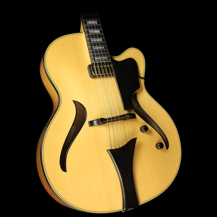 Used Hofner Jazzica Custom Archtop Electric Guitar Natural H05043