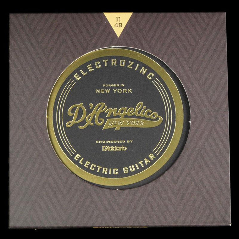 D'Angelico Electrozinc Rock Strings Electric Guitar Strings 11-49 (Plain 3rd)