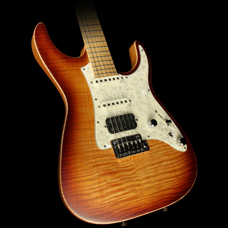 Used 2016 Tom Anderson Guitarworks Guardian Angel Electric Guitar Natural Orange Burst Satin 06-21-16N