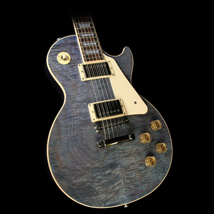 Used 2015 Gibson Les Paul Traditional Electric Guitar Ocean Blue 150085371