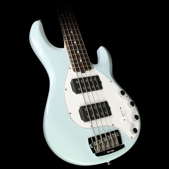 Ernie Ball Music Man Stingray 5-String Electric Bass Guitar Powder Blue C00588