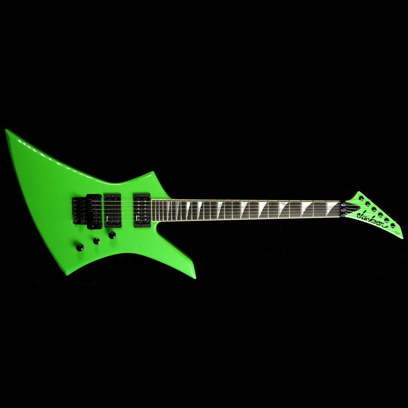 Used 2014 Jackson Custom Select KE2 Kelly Electric Guitar Kawasabi Green J8383