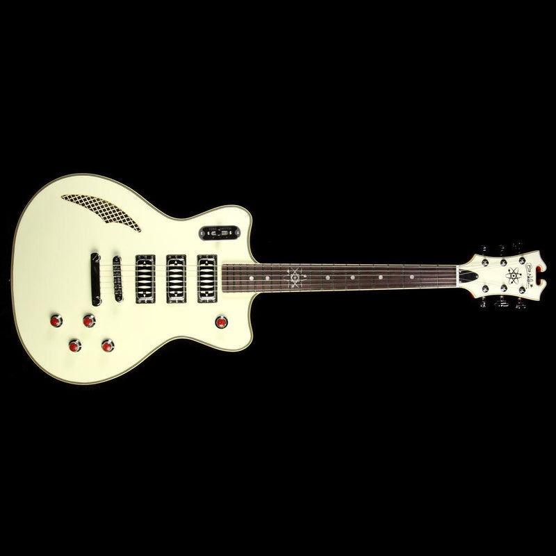 Eastwood Bill Nelson Astroluxe Cadet Electric Guitar Cream with Hardshell Case