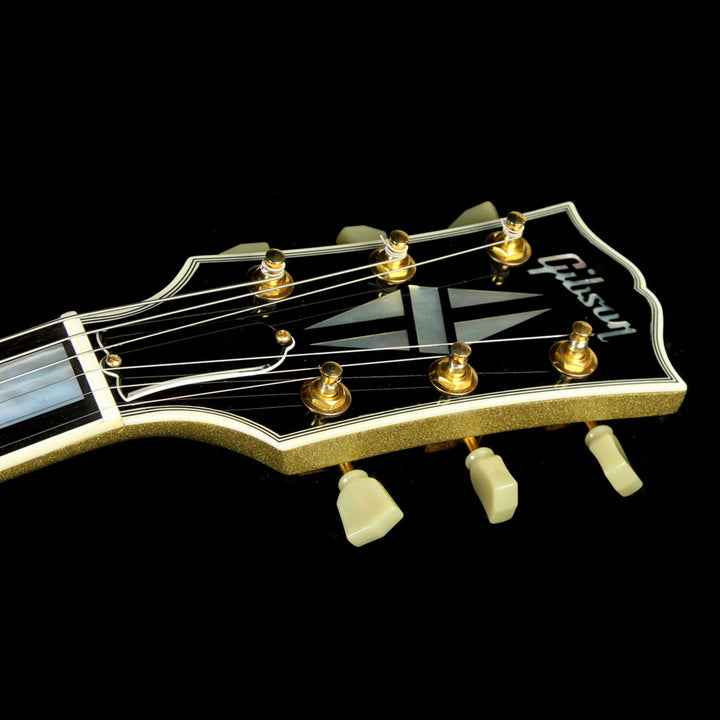 Used 2008 Gibson Custom Shop SG Custom Electric Guitar Gold Sparkle CS83405