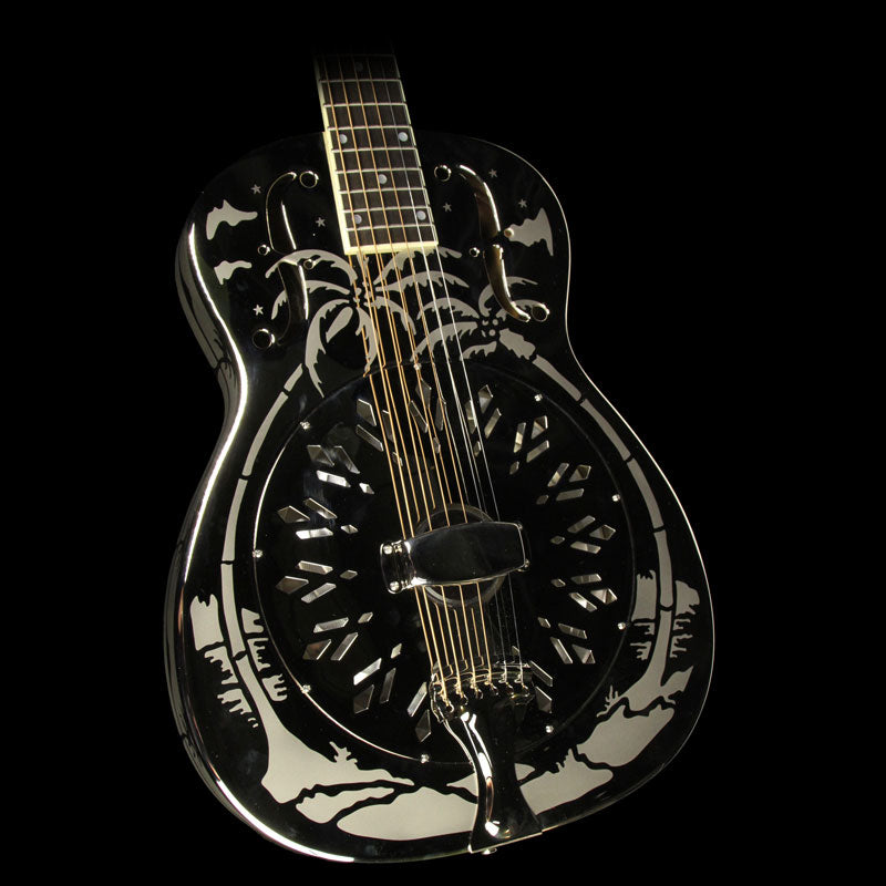 Used National Style O Resonator Acoustic Guitar Silver 21362