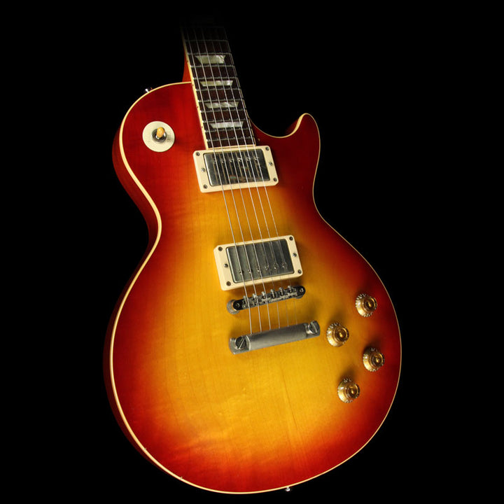 Used 2010 Gibson Custom 1958 Les Paul Reissue VOS Electric Guitar Bourbon Burst 80056