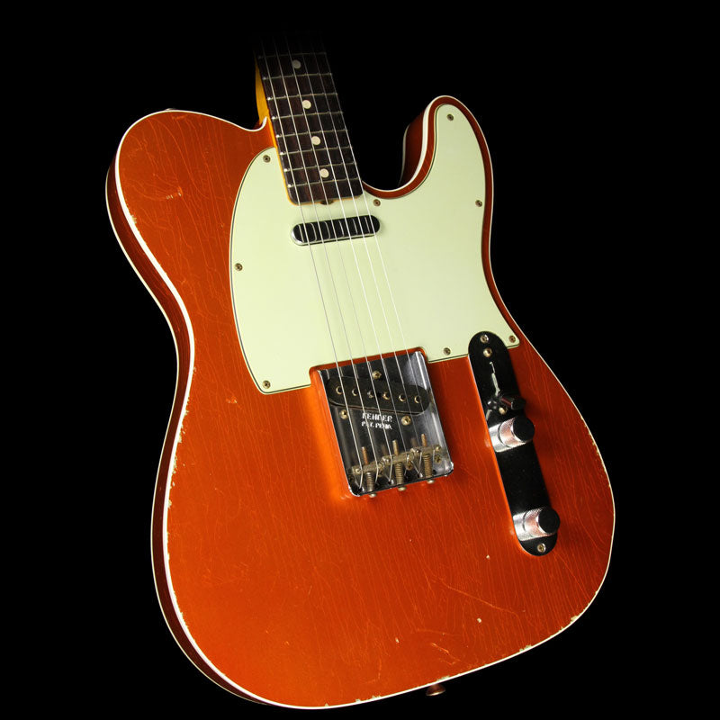 Used 2014 Fender Custom Shop '60 Custom Telecaster Relic Electric Guitar Candy Tangerine with Matching Headstock R77260