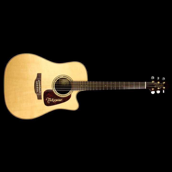 Used Takamine P5DC Dreadnought Acoustic Guitar Natural 12100824