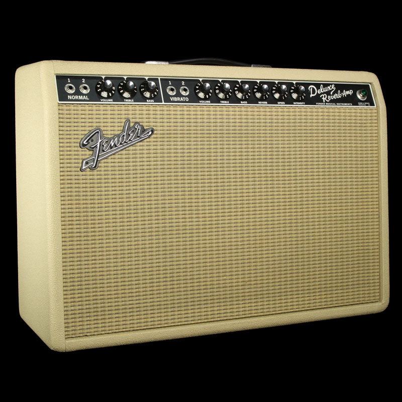Used Fender Vintage Reissue '65 Deluxe Reverb 1x12 Combo Amplifier BLD-0289