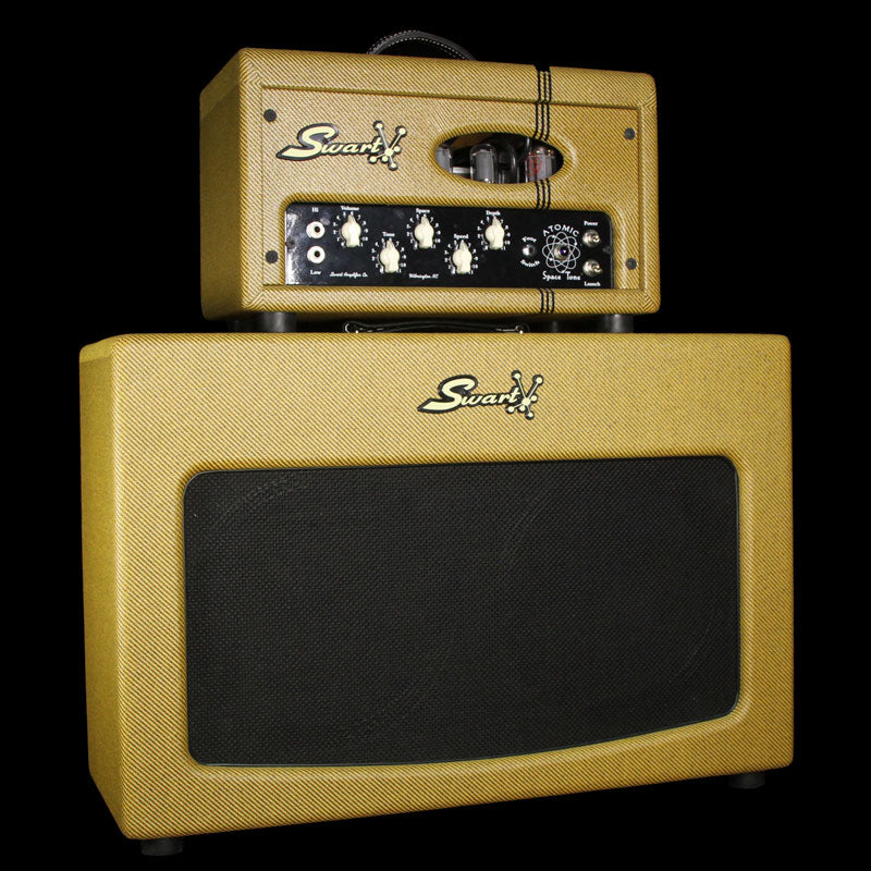 Used Swart Limited Edition Atomic Space Tone Head and 2x12 Cabinet Lacquered Tweed