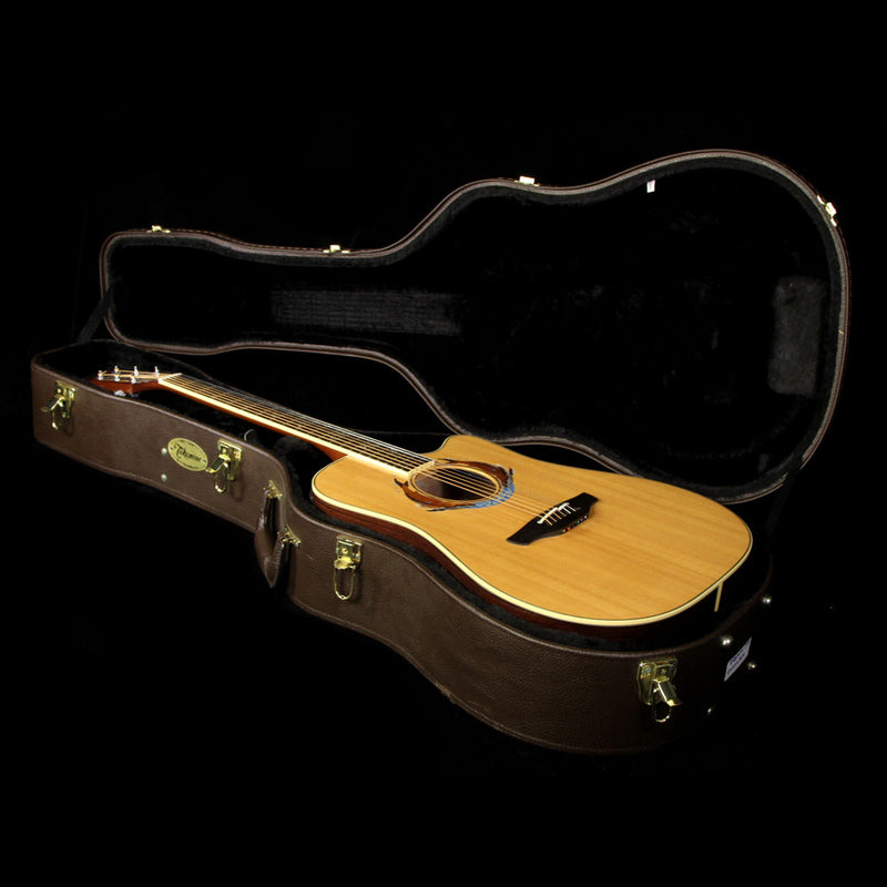 Used 2002 Takamine Cousteau Society Limited Edition Dreadnought Acoustic Guitar Natural 1100791