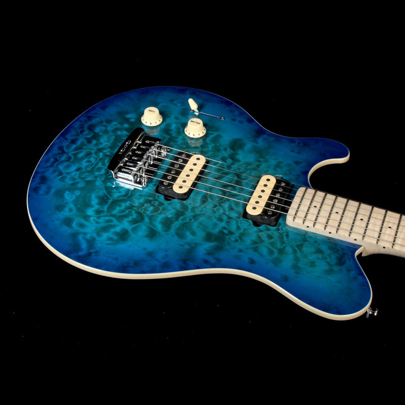 Ernie Ball Music Man Axis Super Sport Tremolo Left-Handed Balboa Blue Quilt Top