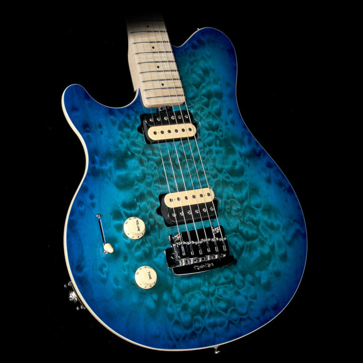 Ernie Ball Music Man Axis Super Sport Tremolo Left-Handed Balboa Blue Quilt Top L04852