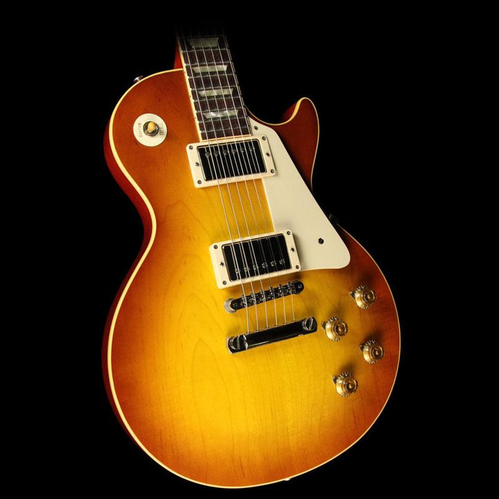 Used 2010 Gibson Custom 1958 Les Paul Reissue Electric Guitar Iced Tea 8 0005