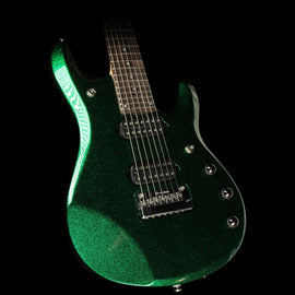 Used Ernie Ball Music Man JP7 John Petrucci Signature Guitar Emerald Green with Matching Headstock