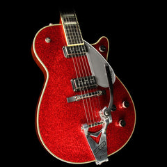 Used 2015 Gretsch G6129T-RDSP-LTD15 Duo Jet Electric Guitar Red Sparkle