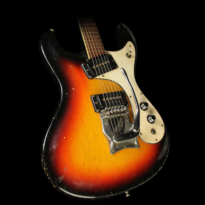Used 1964 Mosrite The Ventures Vibramute Model Electric Guitar Sunburst 1521