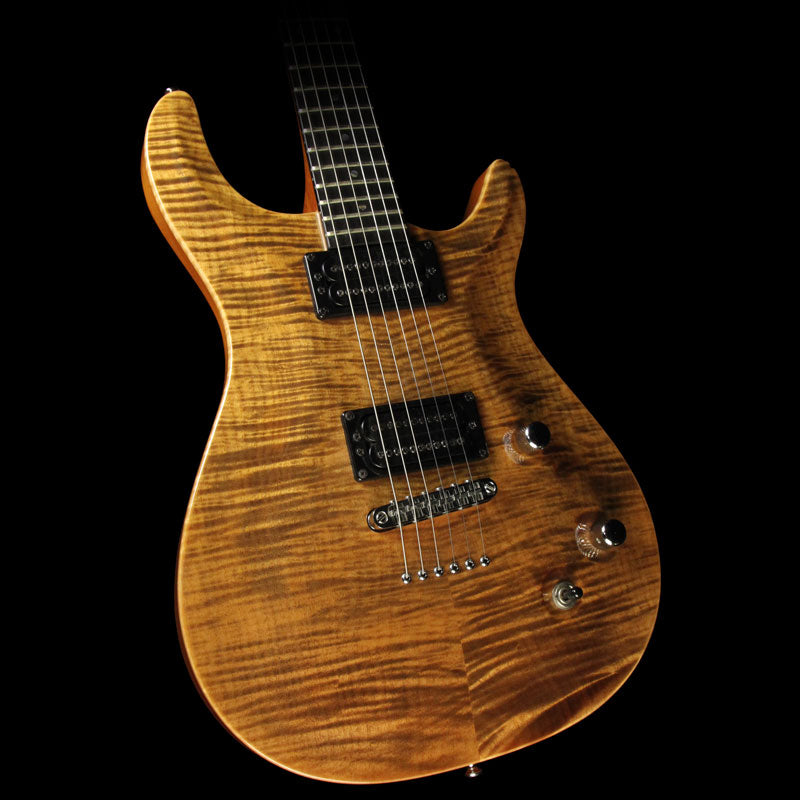 Used Carvin California Carved Flame Maple Top Electric Guitar Transparent Brown 84747