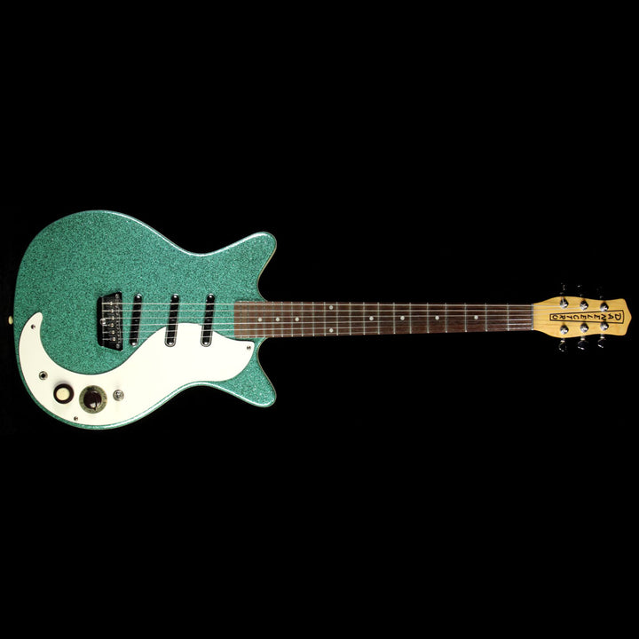 Used Danelectro DC-3 Electric Guitar Green Sparkle