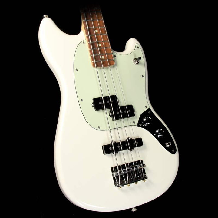 Fender Mustang Bass PJ  Electric Bass Olympic White 0144053505