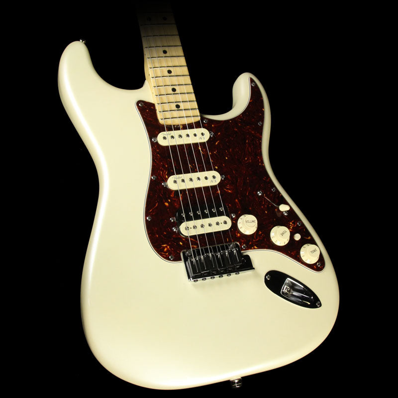 Used 2015 Fender American Deluxe Stratocaster HSS Shawbucker Electric Guitar Olympic Pearl US15020057