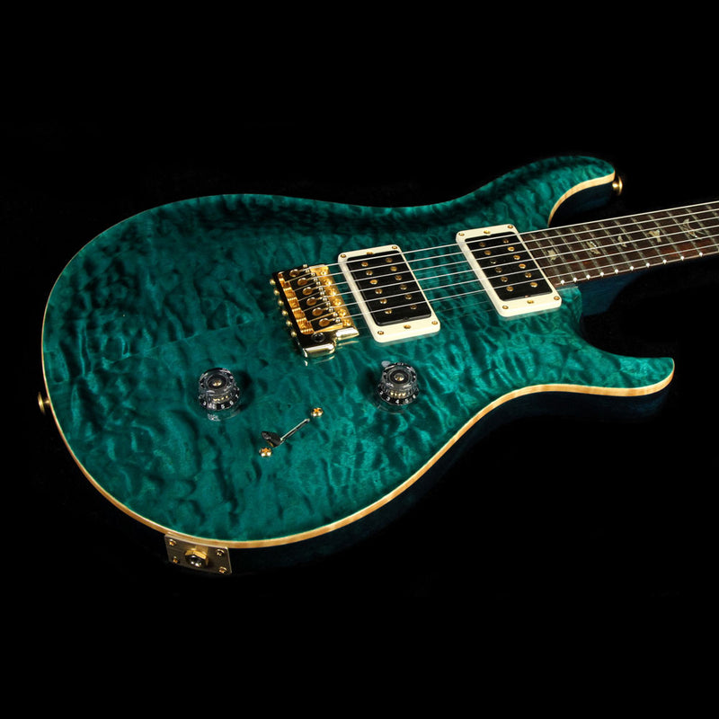 Used 2014 Paul Reed Smith Custom 24 Artist Package Brazilian Rosewood Electric Guitar Turquoise 14 214126