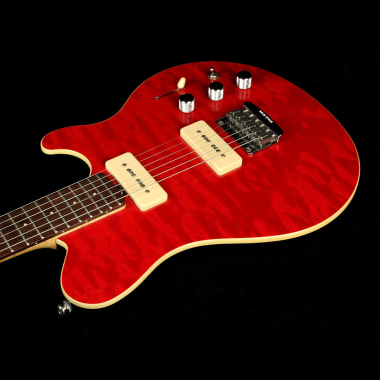 Used Ernie Ball Music Man Axis Super Sport Electric Guitar Trans Red