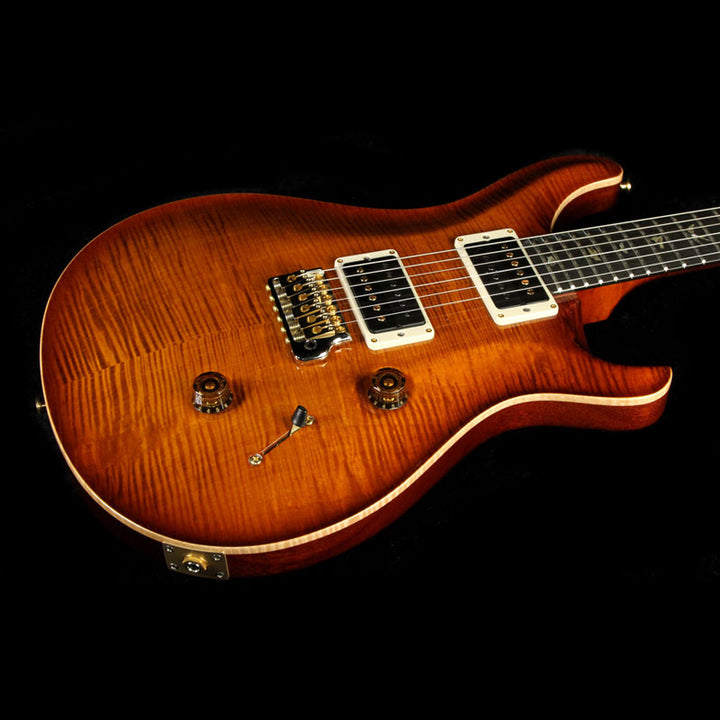 Used Paul Reed Smith Custom 24 Artist Package Electric Guitar Violin Amber Burst with Matching Neck Burst 239046