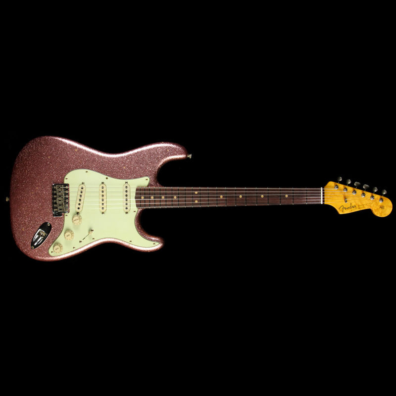 Used Fender Custom Shop '63 Stratocaster Journeyman Relic Electric Guitar Champagne Sparkle 923 9990 905
