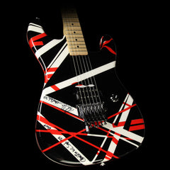 Used 2007 Charvel EVH Art Series Electric Guitar Red, Black & White