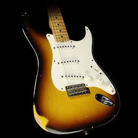 Used 2000 Fender Custom Shop '56 Relic Stratocaster Electric Guitar 2-Tone Sunburst