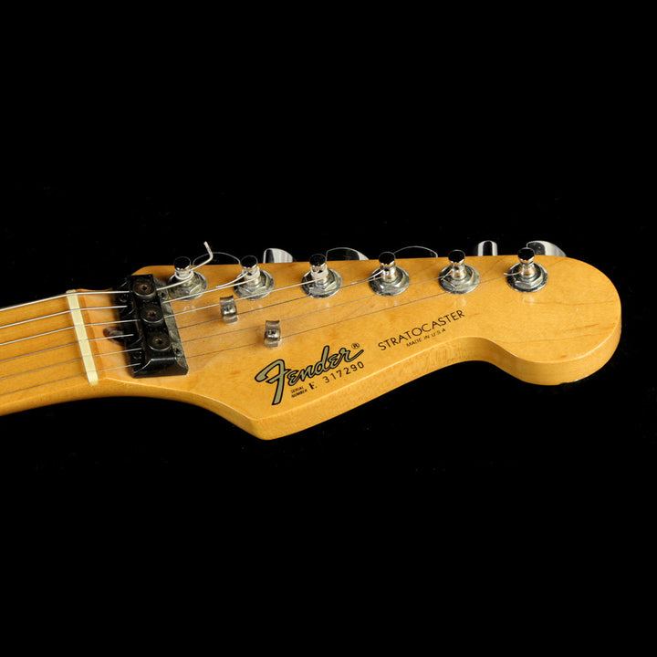 Used 1983 Fender American Standard Stratocaster Electric Guitar Black with Kahler and GK2 Synth Pickup E317290