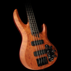 ESP LTDB-1004 Bubinga 4-String Electric Bass Natural Satin