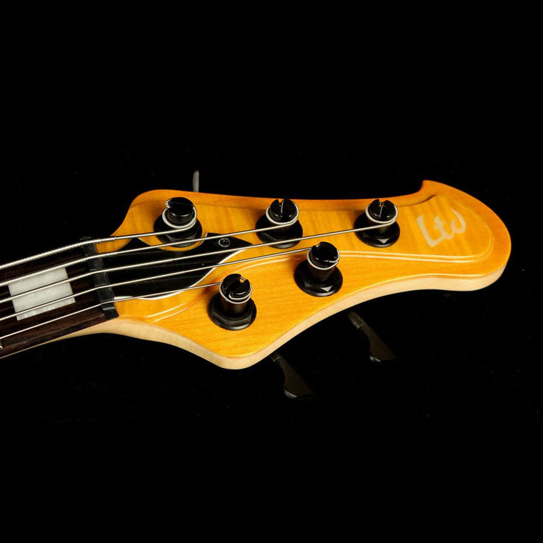 Used ESP LTD Stream-1005 5-String Electric Bass Guitar Honey Natural