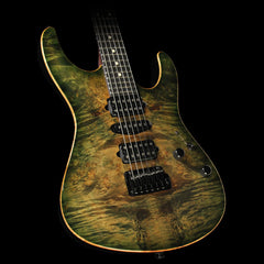 Used 2014 Suhr Modern Basswood/Burl Maple Electric Guitar Faded Transparent Green Burst