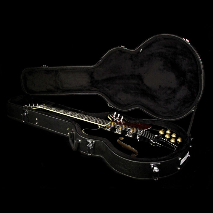 Used Eastwood Airline H77 Semi-Hollow Electric Guitar Black Airline H77