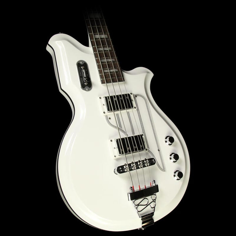Used Eastwood Airline Map Bass Electric Bass White