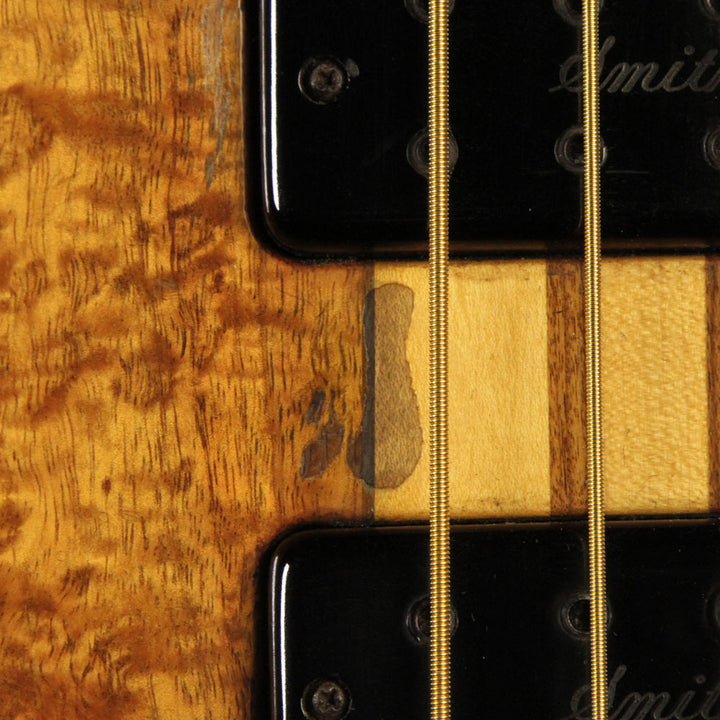 Used 1990 Ken Smith BT4G Electric Bass Guitar Natural 66290